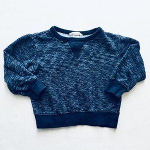 H&M Navy Blue Marbled Sweatshirt